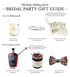 Wedding Party Gift Guide | Charleston, SC