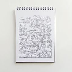 Featuring a coloring page from adult coloring book  #foresttrails #illustrated by @artsytales link in bio! #dayplanner #notebooks #journals #books #coloring