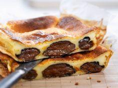 Découvrez la recette Far breton aux pruneaux façon Cyril Lignac sur cuisineactuelle.fr.