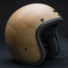 - Description - Sizing Handmade in London, UK (ECE certified) Composite fiber shell of moulded fiberglass Raw fireproof Vermiculite fiber shell, matte finish Hed Armor lining with cushion p Dirt Bike Helmets, Motorcycle Gear, Motorcycle Helmets, Bicycle Helmet, Classic Motorcycle, Women Motorcycle, New Motorcycles, Vintage Motorcycles, Riding Gear