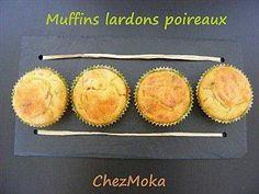 Muffins aux poireaux et aux lardons