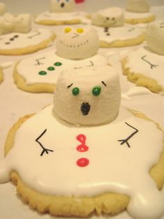 Snowman Cookies..and the Melting Snowman for Kiddie Christmas Party
