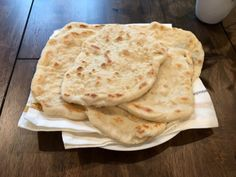 food and drink Navajo Flatbread: Makes 6 2 cups all purpose flour 1 cups of lukewarm water 1 Tablespoon baking powder 1 teaspoon salt 2 teaspoons oil (canola oil, vegetable oil, or s Easy Homemade Recipes, Easy Bread Recipes, Cooking Recipes, Flat Bread Recipe Easy, Drink Recipes, Dinner Recipes, How To Make Bread, Food To Make, Pan Frito