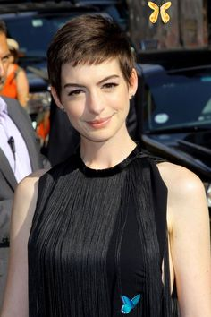 Would You Cut Your Hair Into A Pixie Crop? Celebrity Pixie Crop Hair & Hairstyles - Emma Watson Anne Hathaway | British Vogue<br> As Jennifer Lawrence debuts a new short style, see the other stars who have taken the plunge New Short Hairstyles, Cool Braid Hairstyles, 2015 Hairstyles, Straight Hairstyles, Haircuts, Super Short Hair, Short Straight Hair, Short Hair Cuts, Short Hair Styles