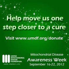 Mitochondrial Awareness Week - September 16-22, 2012