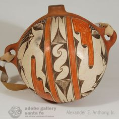 Zia Pueblo Very Large Polychrome Water Canteen