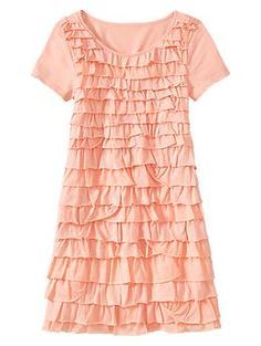 Pale Coral Pink Ruffle party dress | Gap