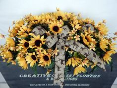 Displayed on a standard double headstone, decorations are equally beautiful from any side. (Saddle is approx. Beautiful Pink Mixed Bush Plus Pink Filler Flowers. Flowers For Mom, Dried Flowers, Sun Flowers, Grave Decorations, Flower Decorations, Cowboys Wreath, Memorial Flowers, Cemetery Flowers, Floral Arrangements