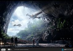 Rebel Hidden Base in SooKah System - ILM AD CHALLENGE - The Job, Alfie Rodriguez on ArtStation at https://www.artstation.com/artwork/3ZEqm