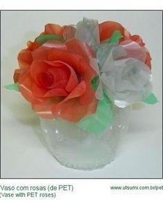 Vaso de flores de garrafa PET