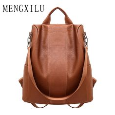 b4b73f4834c MENGXILU High Quality Pu Leather Backpack Women Patchwork Casual Daypacks  Female Anti-Theft Backpacks For