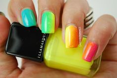 Sarah Lou Nails: Rainbow Gradient Nails!