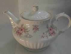 Vintage Crown Dorset Rose Teapot Made in England