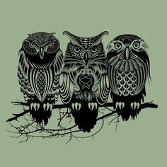 Owls-Smallish finger tattoo idea (Only the Great Horned Owl)