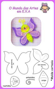 mariposa. moldes