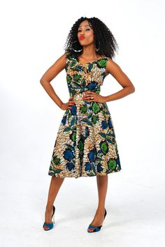 African Print Vintage Dress by Bongolicious1 on Etsy