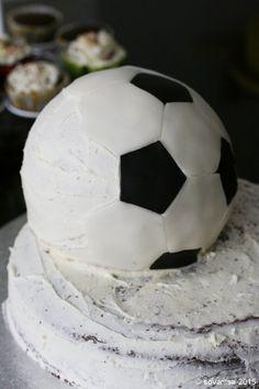 sovanisa: how to make a soccer ball cake: