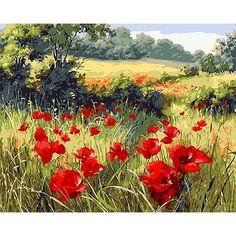 06eb0ace8b5bf Resultado de imagen de cuadros paisajes amapolas