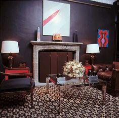 Vintage David Hicks Glamor Manhattan Living Room Art Es Area