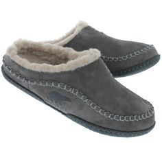 Mns Falcon Ridge shale open back slipper Sorel Slippers, Mens Moccasin Slippers, Buy Shoes, Men's Shoes, Shoe Boots, Leather Slippers For Men, Waterproof Shoes, Luxury Shoes, Zapatos