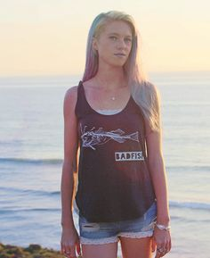 Baby, are you a bad fish too?  ☆☆☆☆☆☆☆☆☆☆☆☆☆☆☆☆☆☆☆☆☆☆☆☆☆☆☆☆☆☆☆☆☆☆☆☆  Each Clarafornia Co. design is hand-drawn, and each shirt hand screen-printed