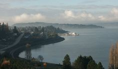 Steilacoom, WA (pretty much the view from my grandpa's ... one of the reasons WHY I love Washington)