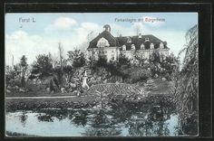 Alte Ansichtskarte: AK Forst, Parkanlagen mit Bürgerheim