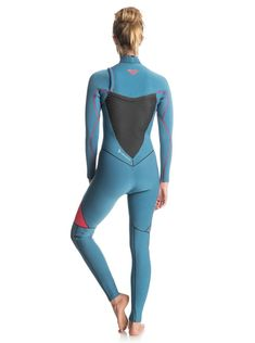 ROXY™ Womens Performance Chest Zip Steamer Wetsuit – Chest zip full wetsuit  for women from ROXY. Features include  FN lite neoprene packed with air  cells ... acbfaa7aebe