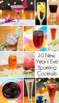 10 #NYE specialty cocktails to serve and enjoy.