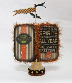 Little Trick or Treaters Halloween Altered Altoid Tin by RackyRoad