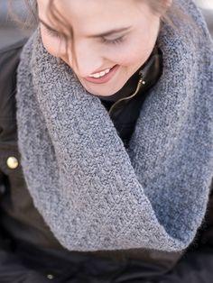 Berroco Devora Textured Cowl Knitting pattern using Catena yarn