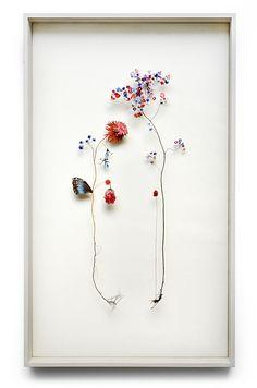 Delicate Flower Constructions By Anne Ten Donkelaar Fleurs Diy, Flower Collage, Pressed Flower Art, Flower Landscape, Botanical Art, Dried Flowers, Flower Power, Flower Arrangements, Paper Art