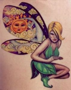 I like the idea of my tattoo going in something but not a fairy