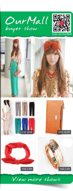 This is Camille Co's buyer show in OurMall;  1.Women Fashion Casual Harem Pants Elastic Waist Slim Fit Full Length Trousers 2.VSEN 2X Fashion Women Multifunction Zipper Wallet Orange 3.Color Hair Styling Braider Tools For Female Elastic Ring Rabbit Bow Headwear Hair 4.Rose ... please click the picture for detail. http://ourmall.com/?zyABvq #pants #skinnypant #vinypants #femalenpants #casualpants #pantsforwomen #hotpants #palazzopants #greenpant #loosepant