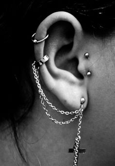 I like the idea of the surface piercing Nd then an addition of the tragus Making a triangle So cute