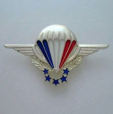 French Parachutist Badge HALO Free Fall Silver Presentation Parawing