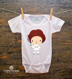 Cute and Funny Onesie for Baby Boy or Girl - Baby Star Wars Princess Leia