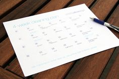 4-week house cleaning schedule from @Jane Izard Maynard with free printable