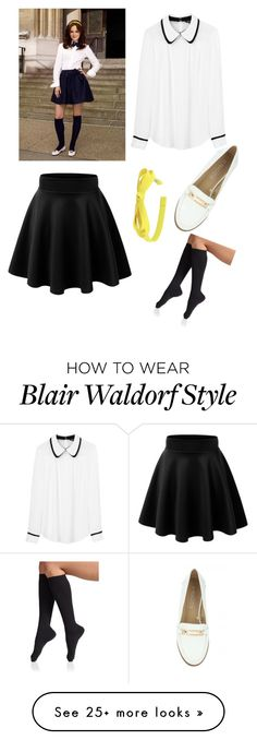 """Blair Waldorf"" by itsninaalves on Polyvore featuring Tara Jarmon, Falke and L. Erickson"