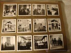 ANTIGUO LOTE COLECCION FOTOGRAFIAS ORIGINALES VILLENA Y MALAGA 1942 1943 MILITARES MUELLE
