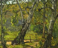 William Wendt (American, 1865-1946) A grove of trees, 1933. Oil on canvas, 25 x 30in