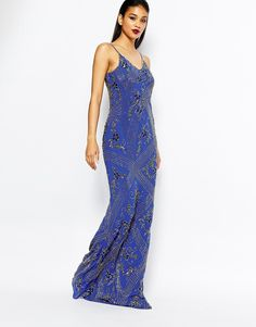 Virgos Lounge Dame All Over Embellished Cami Maxi Dress