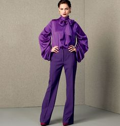 Guy Laroche, Misses' Draped-Sleeve Top and Pants, V1416 http://voguepatterns.mccall.com/v1416-products-48737.php?page_id=174
