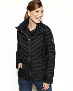 MICHAEL Michael Kors Packable Quilted Down Puffer Coat-in black
