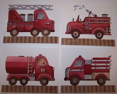 fire truck firetruck boys nursery art kids children wall decor baby nursery on Etsy, $20.00