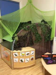 Butterflies Classroom 'Dinosaur' role play area
