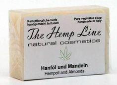 Hanf-Seife aus Hanföl und Mandeln - The Hemp Line - natural cosmetics #hanf #hemp #eco #bio #organic