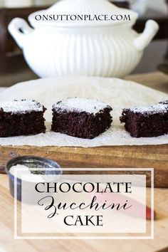 This Chocolate Zucchini Cake recipe is SO easy. You will never know the zucchini is there because the texture is light and moist. Uses basic pantry ingredients.