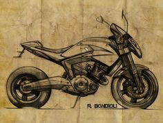 Motorcycles and Sketches by Renato Bondioli at Coroflot.com