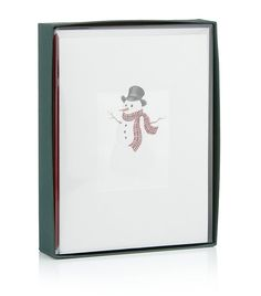 Snowman Christmas Cards. Send your best wishes for the festive season and a joyous new year with William Arthur's Snowman Christmas cards: containing 10 cards and lined envelopes, this set will ensure you mark this special time of year in style. Snowman Christmas cards Set of 10 cards with lined envelopes Presented in William Arthur gift box. Price: $34.95